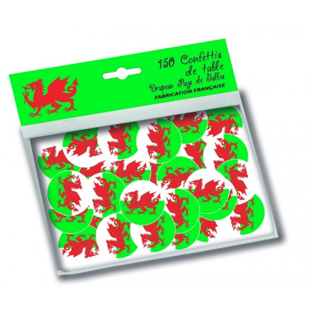 Welsh circle confetti (150pcs) 1in/25mm