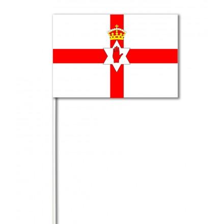 Northern Irish paper hand flag pack of 100