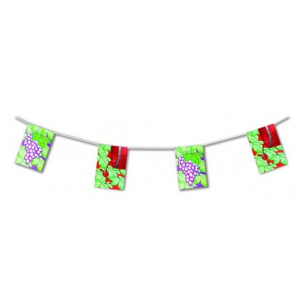wine bunting 4,50m party decoration