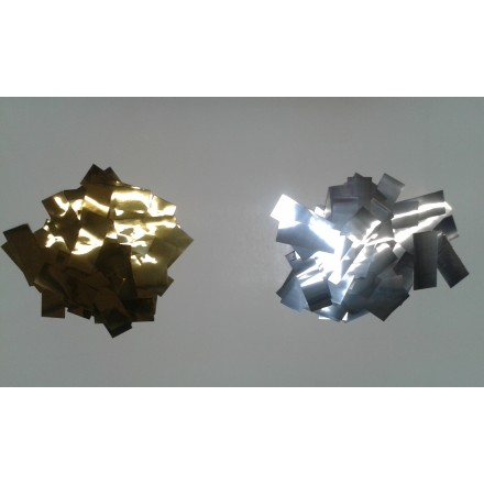 Rectangular 20x50mm Foil confetti choose the color