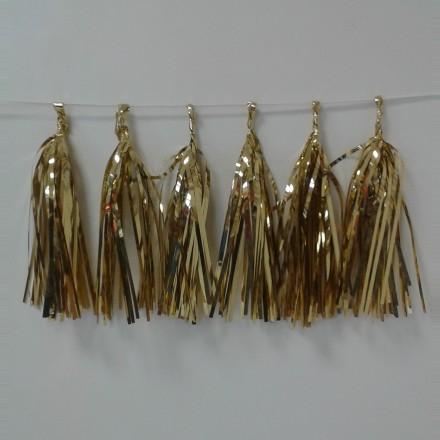 Gold Foil Tassel Garland (12 tassels)