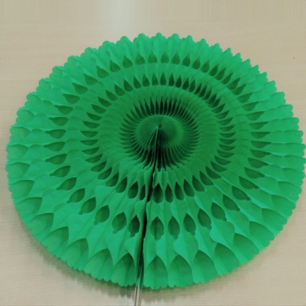 Green paper fan honeycomb tissue 50cm fire retardant paper wedding and birthday decoration