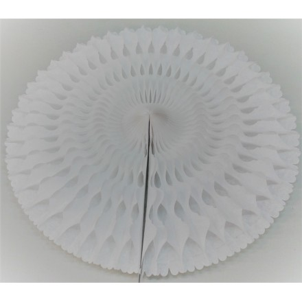 White honeycomb fan 50cm flame resistant paper party decoration