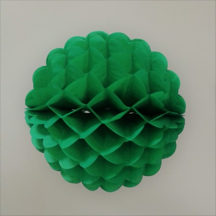Green honeycomb ball 10inch/25cm flame retardant tissue paper decoration for wedding and all parties