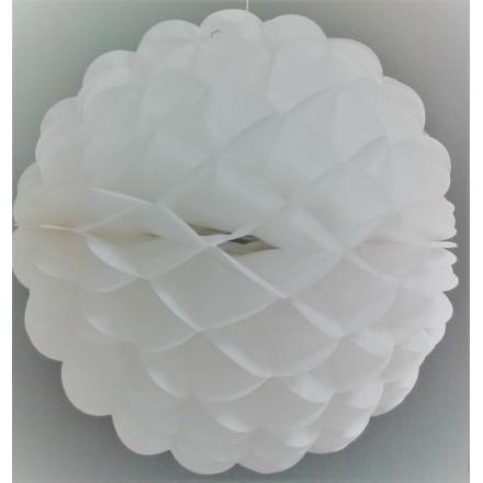 White tissue paper ball 10inch/25cm honeycomb decoration flame resistant tissue