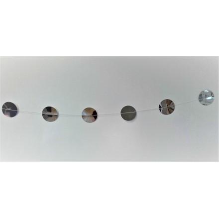 Foil Silver Circle Garland 1,50m