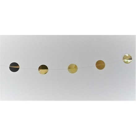 Foil Gold Circle Garland 1,50m ( 5ft )