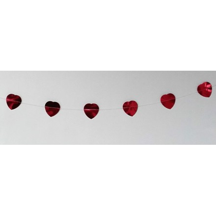 Foil Red Heart Garland 1,50m ( 5ft )