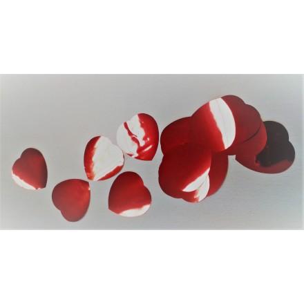 Foil Red Hearts 30mm Confetti