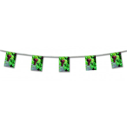 grape bunting 4,50m wine festival party decoration and banner for indoor