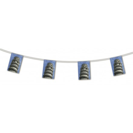 Tower of Pisa Bunting 15ft/4,50m