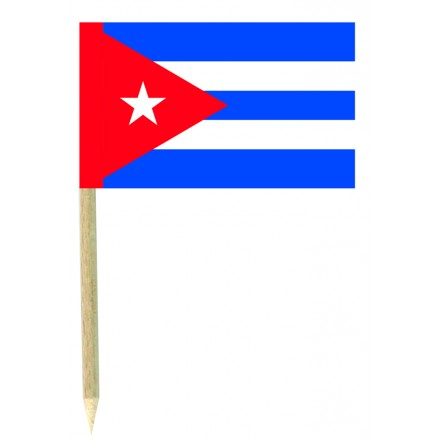 Cuban flag picks - pack of 50 food wood sticks party supplies