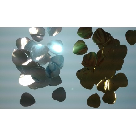 Foil Heart 30mm Confetti choose the color