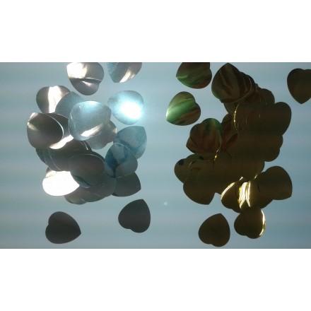 Foil Heart 30mm Confetti choose the color