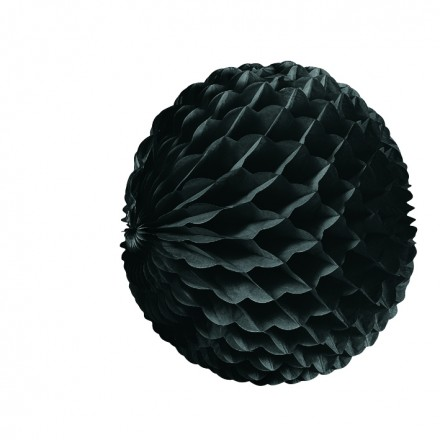 Black honeycomb ball 10inch/25cm flame retardant party decoration