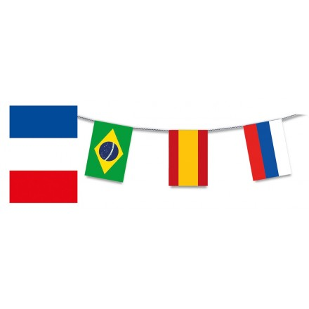 Soccer Euro 2020 bunting flags 24 nations qualified 10m lengths