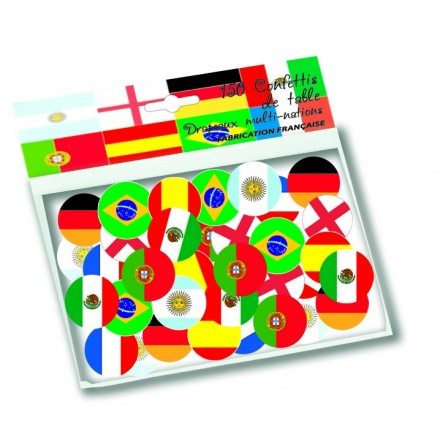 Multinations flag confetti ( 150 pcs )