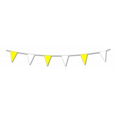 Yellow and White Pennant Bunting