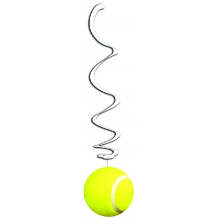 Tennis Hanging Swirl Decoration pack of 6