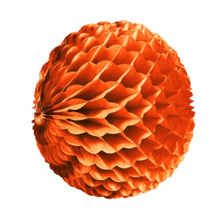 Orange honeycomb ball 10inch/25cm