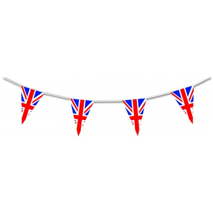 Union Jack Plastic Triangular Bunting