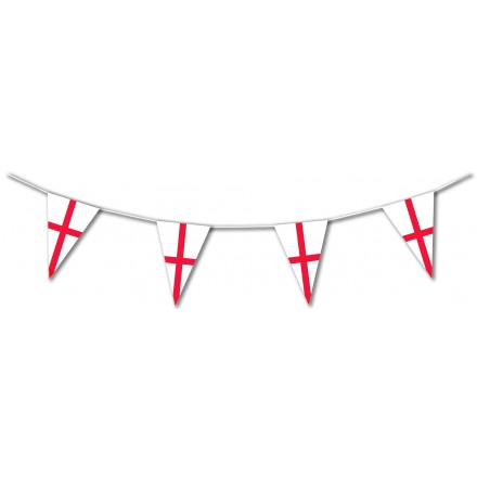 England Plastic Pennant Bunting