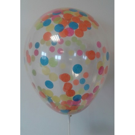 "Multi colored Filled Balloon Confetti ( Pkt 5 ) 11"" 25cm party supplies"