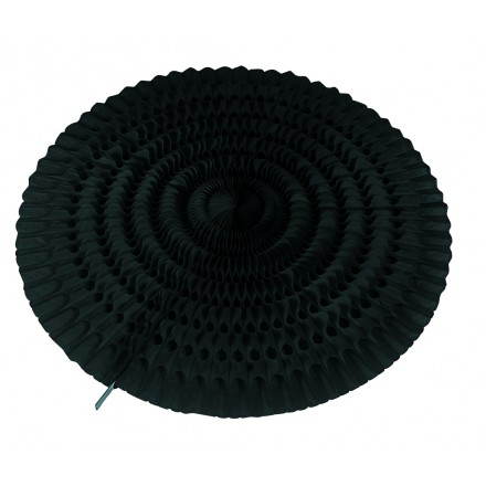 Black honeycomb fan 19,5inch/50cm flame resistant party decoration and supplies