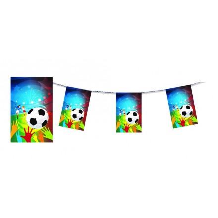 Women's Soccer Bunting Football Flame Retardant Paper Banner 4.50m