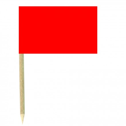 Red Paper Cocktail Flag Sticks - Pack of 50 Food Wood Picks