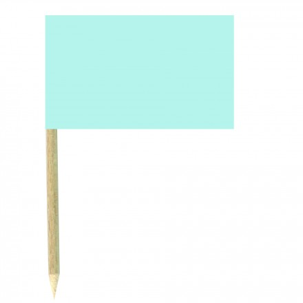 Baby Blue Cocktail Flags Sticks - Pack of 50 Light Blue Food Wood Picks