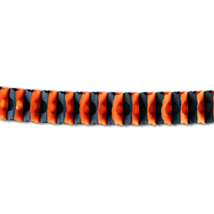 Orange and black honeycomb garland 15ft/4,50m Halloween party decoration