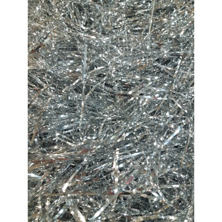 Silver foil angel hair 14g Christmas table decoration