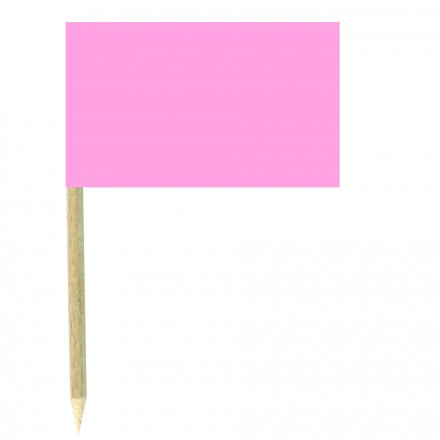 Baby Pink Cocktail Flags Sticks - Pack of 50 Light Pink Food Wood Picks