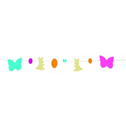Easter Metallic Garland 3.50m Flame retardant