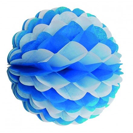 Blue and white honeycomb ball 25cm flame retardant  tissue paper Oktoberfest