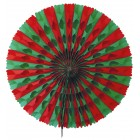 Green and Red honeycomb fan 50cm Flame retardant paper for Christmas