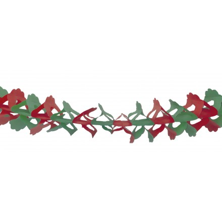 Green and Red Honeycomb Paper Garland 4.50m Zinnia  flame retardant for Christmas