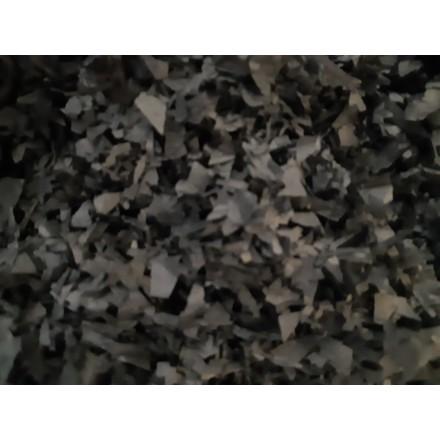 Flame Retardant Tissue Paper Black snowflakes 14mm bag of 3kg
