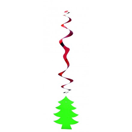 Christmas hanging swirl decoration
