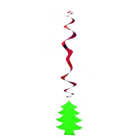 Christmas hanging swirl decoration